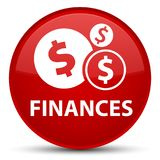 Finances (dollar sign) special red round button. Finances (dollar sign) isolated on special red round button abstract illustration Stock Photo