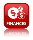 Finances (dollar sign) special red square button Royalty Free Stock Photo