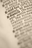Finances en dictionnaire. Image stock