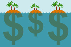 Finances en mer illustration libre de droits