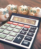 Finances et affaires globales illustration stock