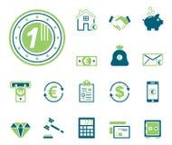 Finances et banque - Iconset - icônes illustration libre de droits