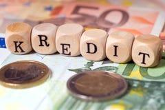 Finances et crédit Photographie stock