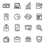 Finances et icône d'argent Image libre de droits