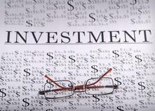 Finances et investissement Photographie stock libre de droits