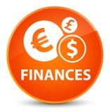 Finances (euro sign) elegant orange round button Stock Photo