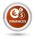 Finances (euro sign) prime brown round button Royalty Free Stock Photography