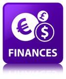 Finances (euro sign) purple square button Stock Images