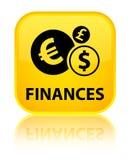Finances (euro sign) special yellow square button Stock Photos