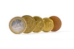 Finances européennes Pentecôte de valeur de concept de devise de pièces de monnaie d'euro Photo libre de droits