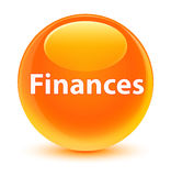 Finances glassy orange round button. Finances isolated on glassy orange round button abstract illustration Stock Photos