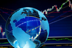 Finances globales Images stock