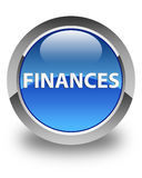 Finances glossy blue round button Stock Image