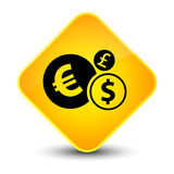 Finances icon elegant yellow diamond button Stock Photos