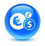 Finances icon glassy cyan blue round button Stock Photo