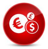 Finances icon elegant red round button Royalty Free Stock Photo