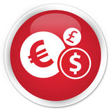 Finances icon premium red round button Royalty Free Stock Images