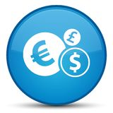 Finances icon special cyan blue round button. Finances icon isolated on special cyan blue round button abstract illustration Royalty Free Stock Photo