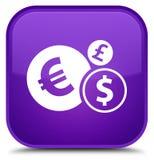 Finances icon special purple square button Stock Photos