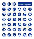 Finances icons Stock Photography