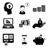 Finances icons. Over white background vector illustration Royalty Free Stock Image