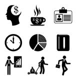 Finances icons. Over white background vector illustration Royalty Free Stock Photo