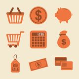 Finances icons. Over  white background vector illustration Stock Photo