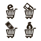 Finances icons. Over  white background vector illustration Stock Photography