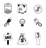 Finances icons. Over white background vector illustration Stock Images