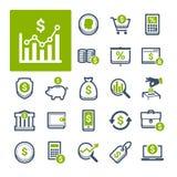 Finances, opérations bancaires et devise (partie 2) Images libres de droits