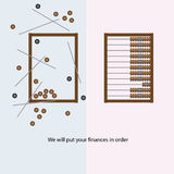 Finances in order. We will put your finances in order wooden abacus. Vector illustration Royalty Free Stock Photography