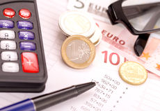 Finances planning. Accounting and personal finances planning Stock Photography