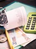Finances planning attributes Stock Photos