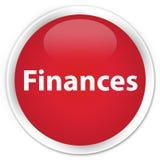Finances premium red round button Stock Photography