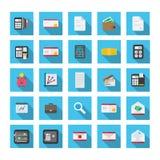 Finances réglées d'icône Image stock
