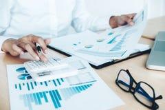 Finances Saving Economy concept. Female accountant or banker use Stock Photo