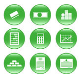 Finances - vector web icons (buttons) Stock Images