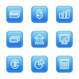 Financez les graphismes de Web Photographie stock libre de droits