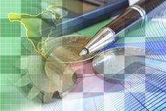 Financiële achtergrond Stock Afbeeldingen