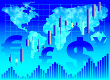 Financiële achtergrond. Stock Afbeelding