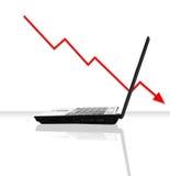 Financiële Afsmelting royalty-vrije stock afbeeldingen