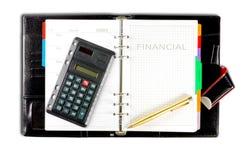 Financiële agenda Royalty-vrije Stock Foto's