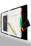 Financiële agenda Royalty-vrije Stock Afbeeldingen