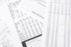Financiële analyse. Royalty-vrije Stock Afbeeldingen