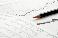 Financiële analyse. royalty-vrije stock afbeelding