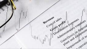 Financiële bedrijfs planning met tarief in de grafiek, balansboekhouding vector illustratie