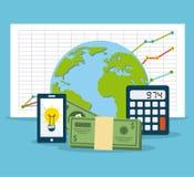 Financiële berekeningen Stock Afbeeldingen