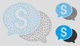 Financiële Berichten Vector het Mozaïekpictogram van Mesh Network Model en van de Driehoek royalty-vrije illustratie