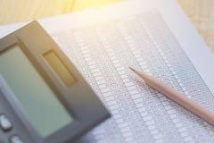 Financiële boekhoudingsanalyse Royalty-vrije Stock Fotografie