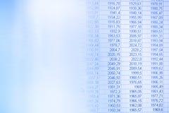 Financiële cijfers stock foto